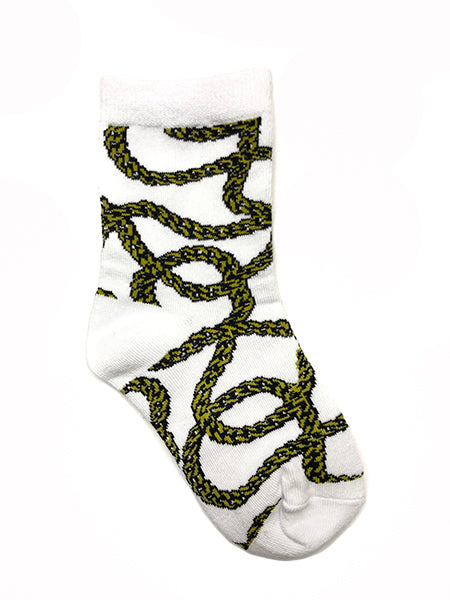Gold Chain Crew Socks