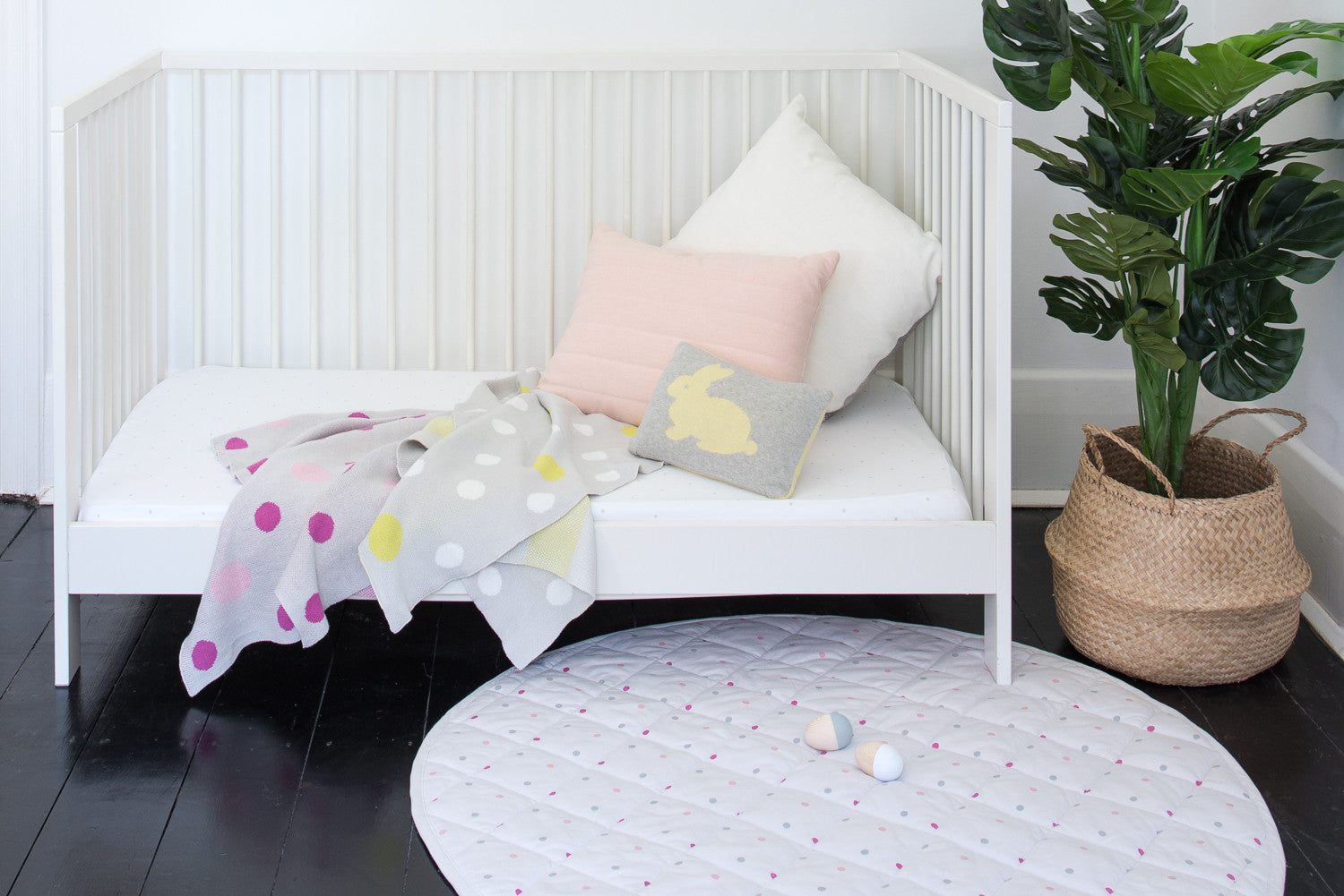 Beautiful playmats, blanket and cot sheets for babies and mothers.