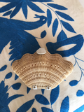 Wicker Shell Clutch