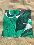 Palm Drive Cotton Napkins in Green - Palme d'Or