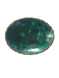 Oval Malachite Medium Bowl - Palme d'Or
