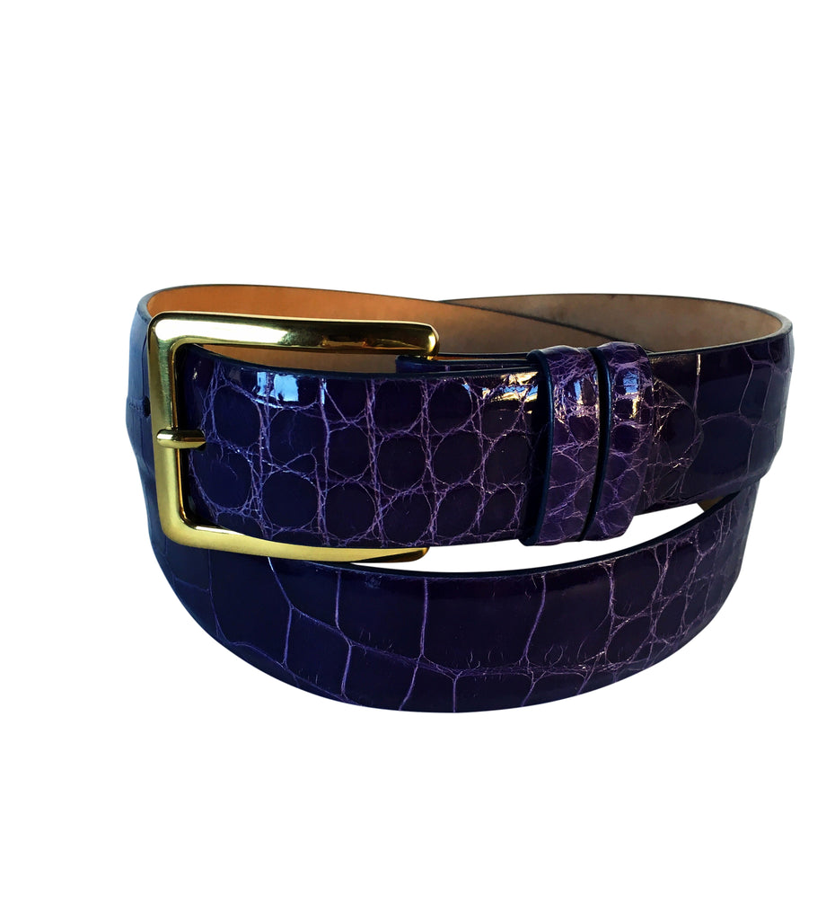 Men's Custom Alligator Belt - Palme d'Or