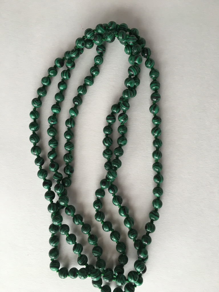 Malachite Hand-Knotted Necklace - Palme d'Or