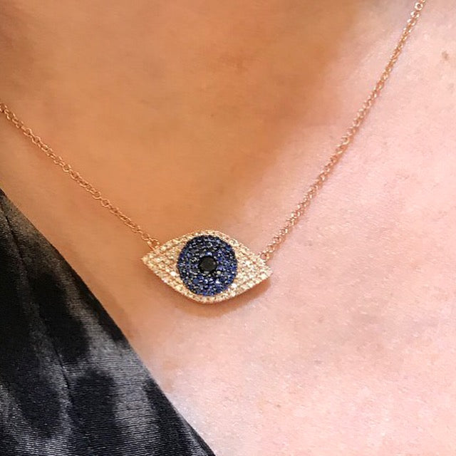 Evil Eye Necklace - Palme d'Or