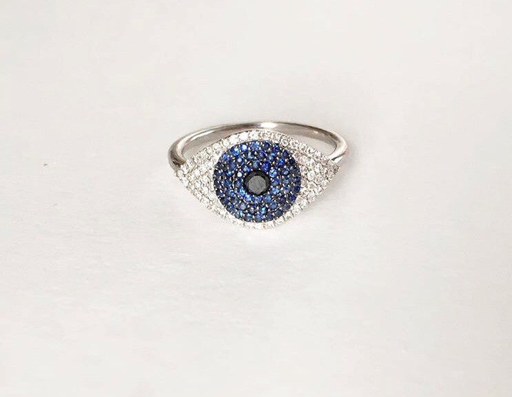 Athena Evil Eye Ring - Palme d'Or