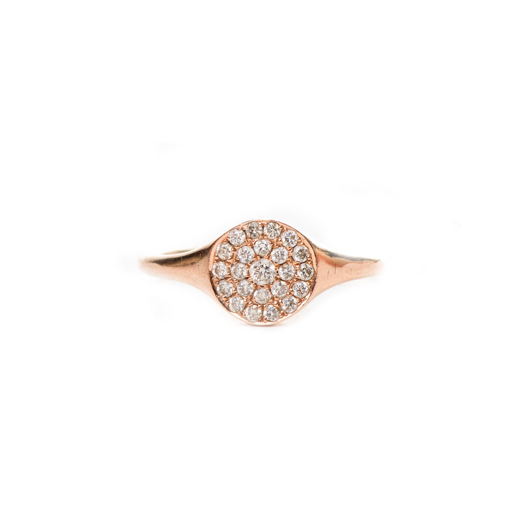 Avignon Pavé Ring in Rose Gold - Palme d'Or