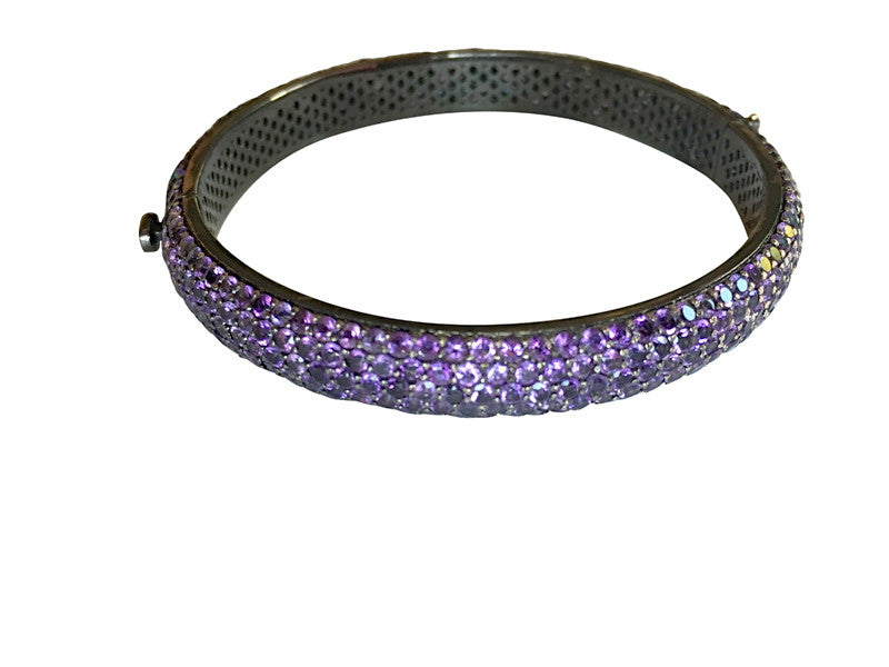 jewellery bangle twisted hinged amethyst cable bangles bracelet shop with zanfeld bracelets