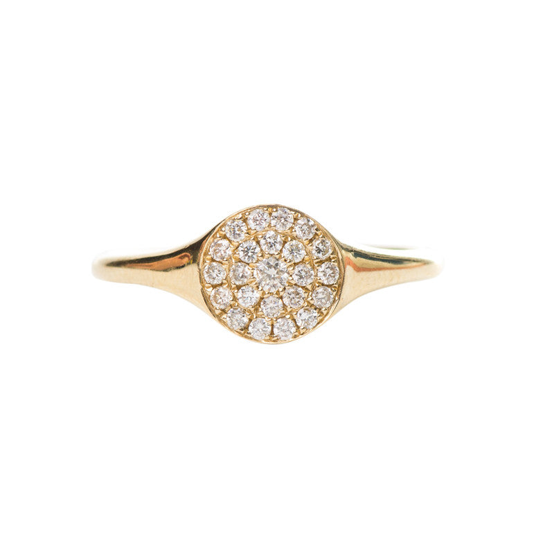 Avignon Pavé Ring in Yellow Gold - Palme d'Or
