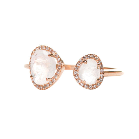 Nevis  Pave Diamond Earring Rose Gold