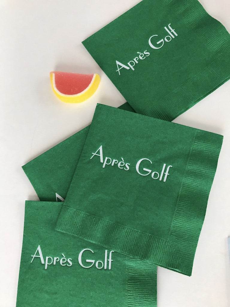 Après Golf Cocktail Napkins - Palme d'Or