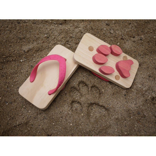 Paw Print Flip-Flops-- MEDIUM - Palme d'Or