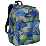 Authentic Everest Classic Pattern School Boys and Girls Backpack - BLUE GREEN GEO