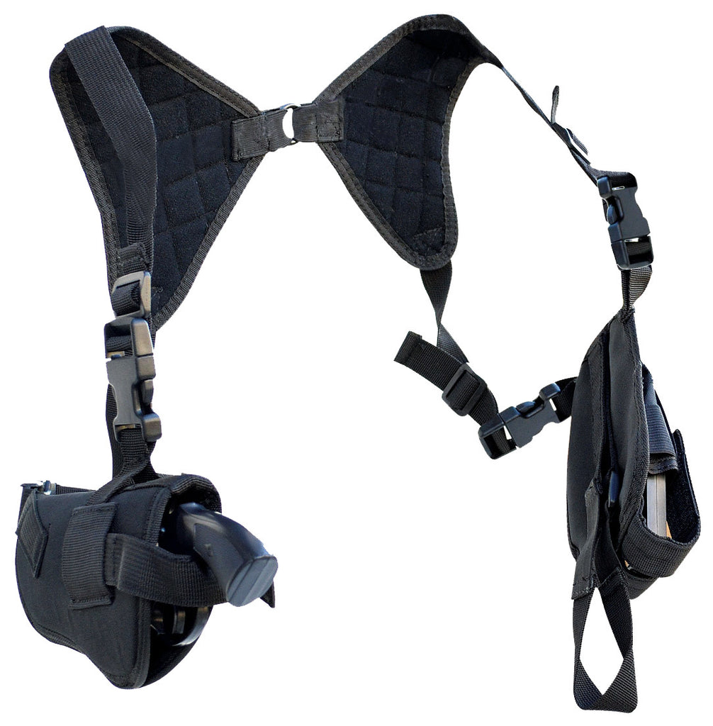 Every Day Carry Tactical Under Arm Concealed Shoulder Holster with Double Mag Carrier - TACTICAL R US