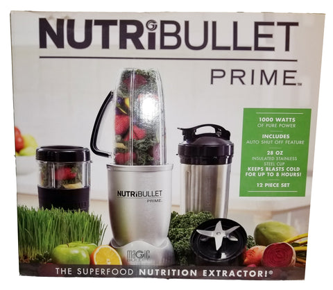 Nutribullet Prime 1000 Watts Mixer Blender Nutrition Extractor 12 Pieces Set
