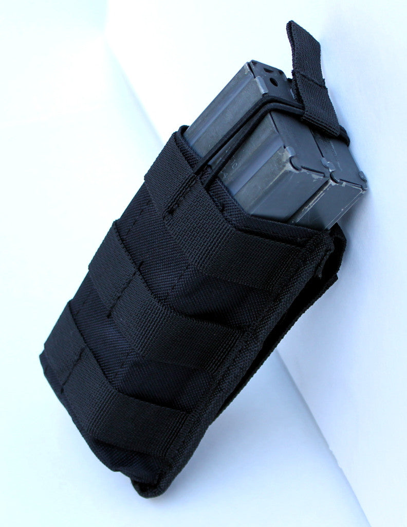 Single Rifle Open Top Mag Pouch Mag Holder with MOLLE Strap - TACTICAL R US