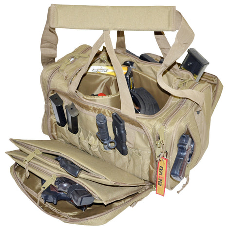 Large Heavy Duty Padded Range Bag Pistol Hand Gun Hunting - TACTICAL R US