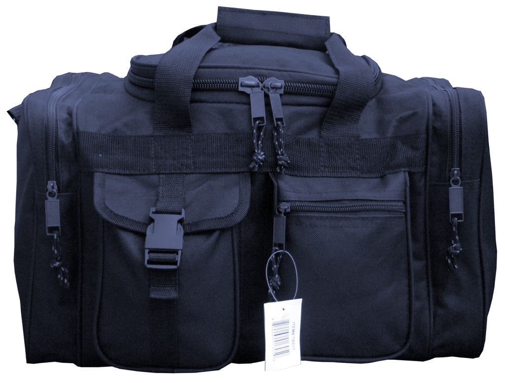 17 Inches Black SWAT Police Duffle Duty Bag Gun Hunting Carry On Luggage Light Range - TACTICAL R US