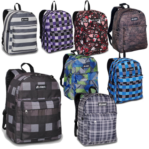 Authentic Everest Classic Pattern School Boys and Girls Backpack - TACTICAL R US