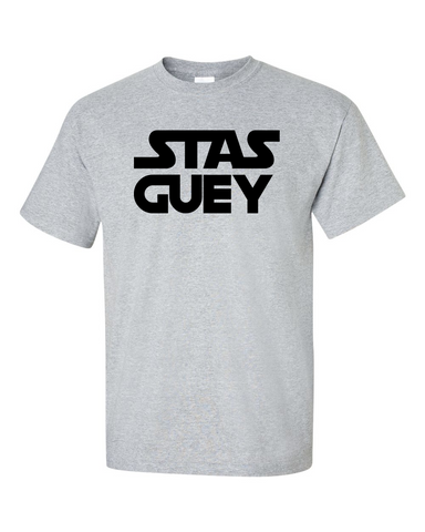 0054323c ... Star Wars Funny T-shirt Stas Guey Graphic Tee Men's Size M Medium L  Large