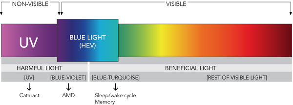 visable light wavelengths