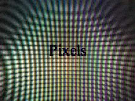 pixels on screen