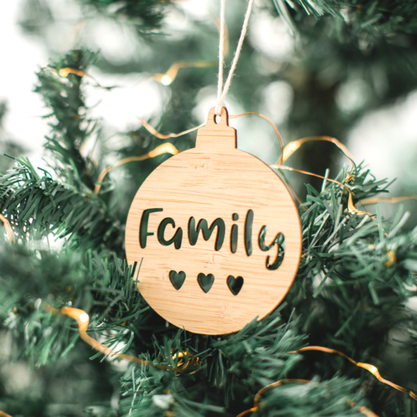 Family with Hearts Christmas Ornament