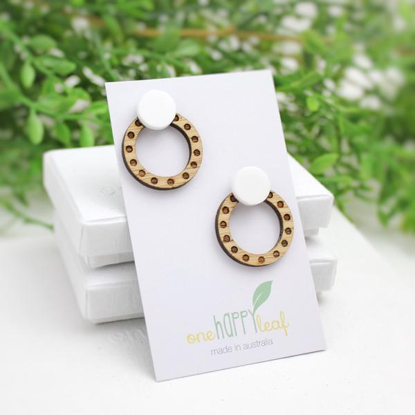 Polka Dot Statement Stud Earrings