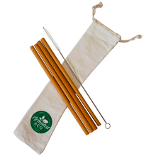 Bamboo Straws Reusable - 4 pack