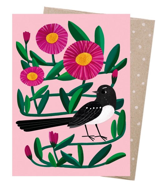 Willie Wagtail - Greeting Card