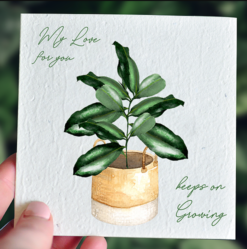 Love Keeps on Growing Valentines - Plantable Card