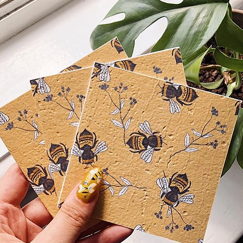 Bee The Cure - Plantable Card