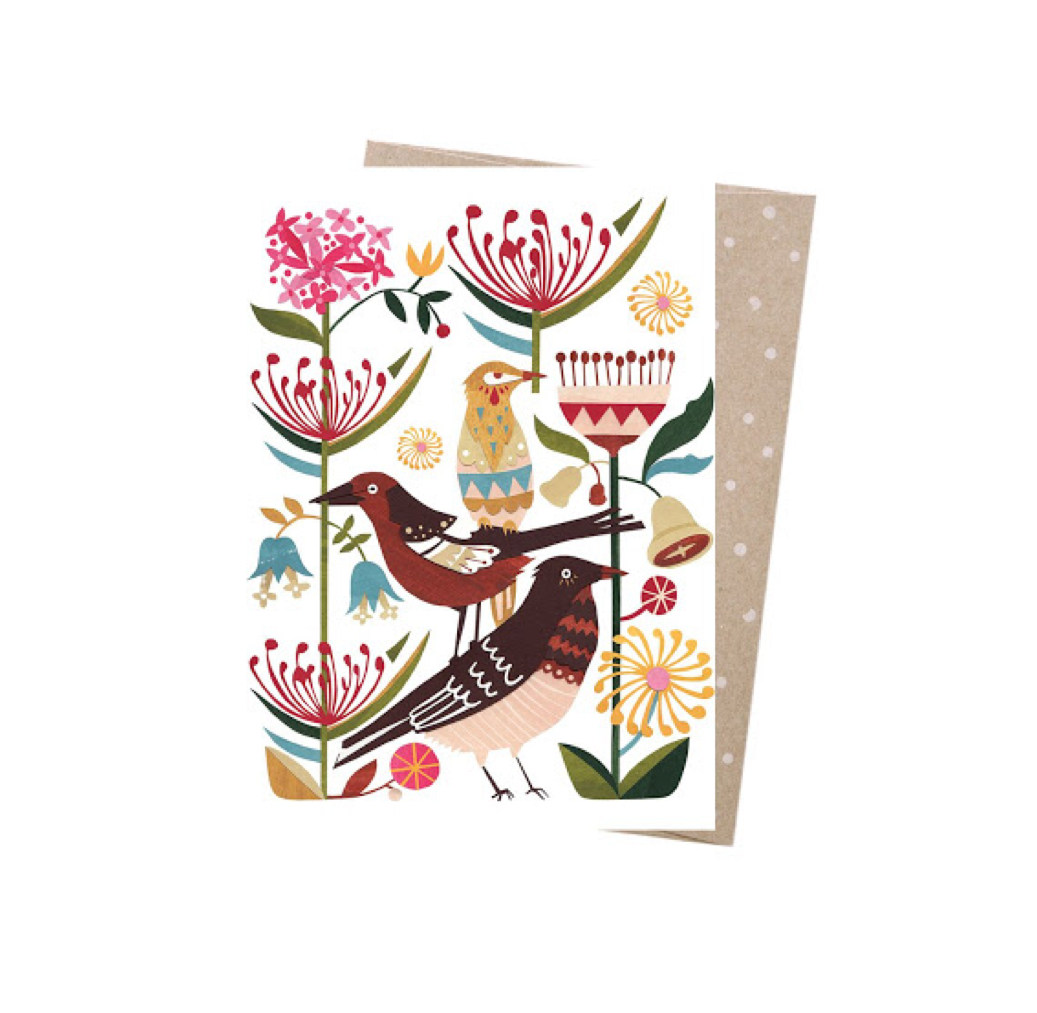 Currawongs - Greeting Card
