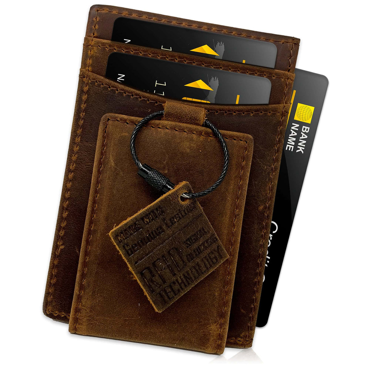 MAVERICK - Chestnut Crazy Horse Leather