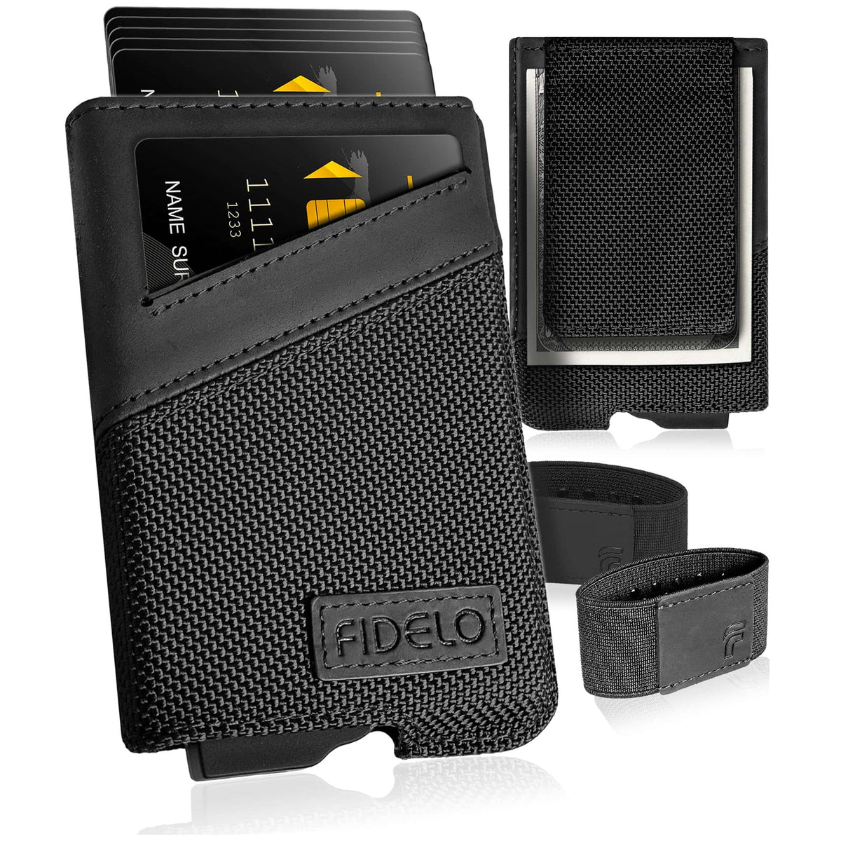 HYBRID WALLET & CASE - Leather & Nylon/Carbon