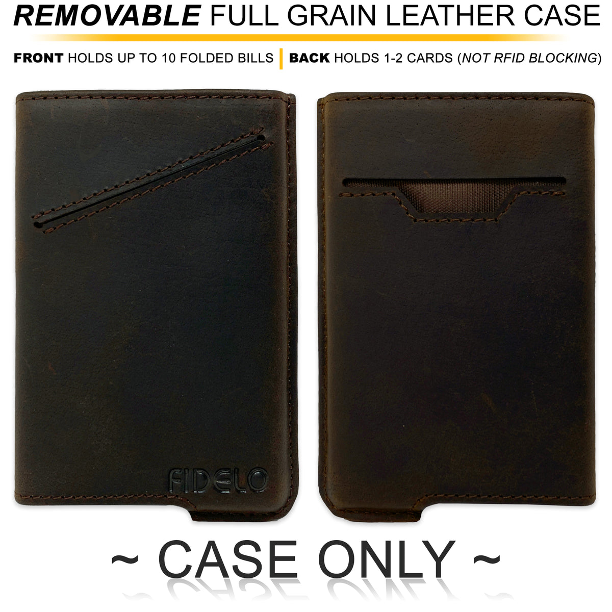 HYBRID CASE ONLY - Espresso Crazy Horse Leather
