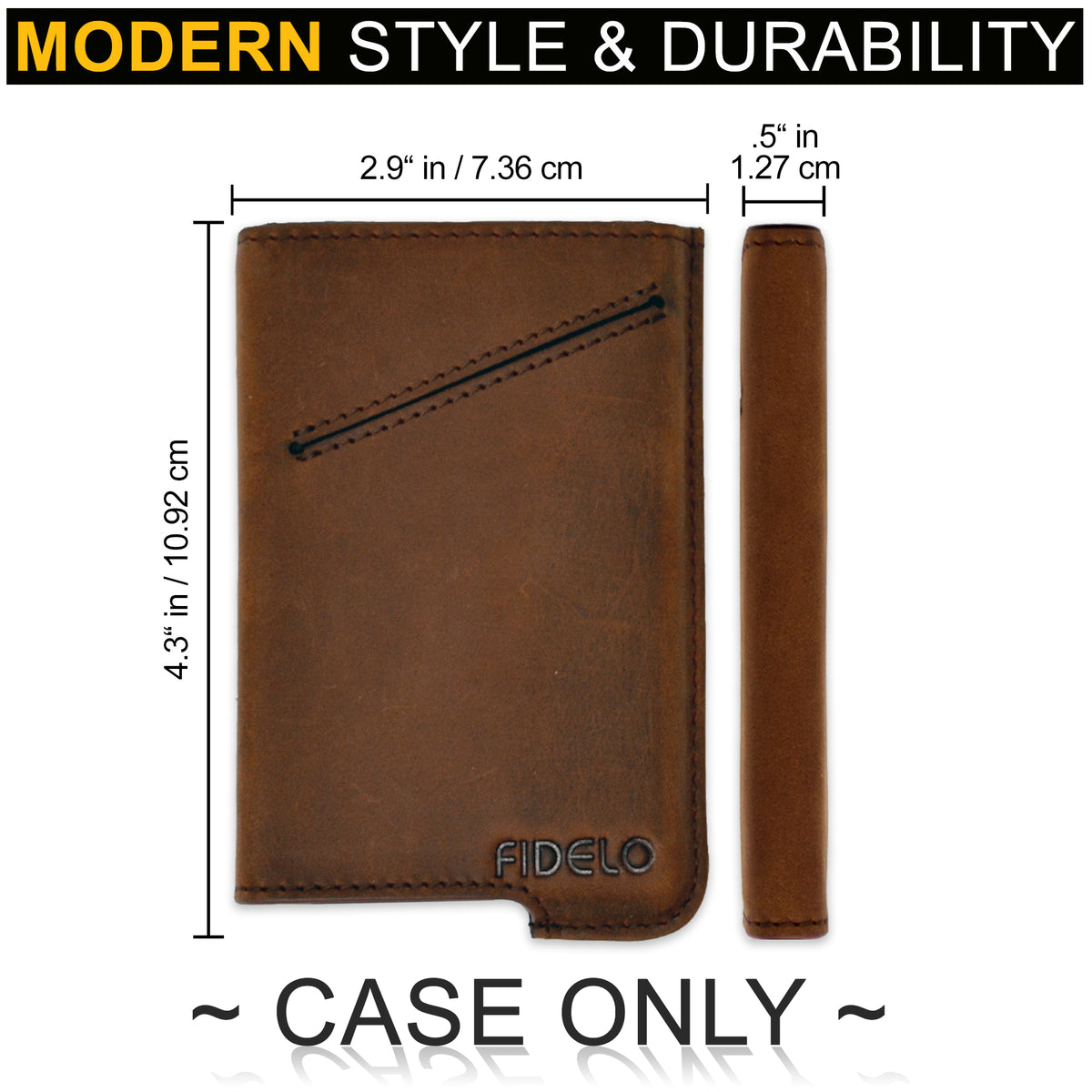 HYBRID CASE ONLY - Khaki Crazy Horse Leather