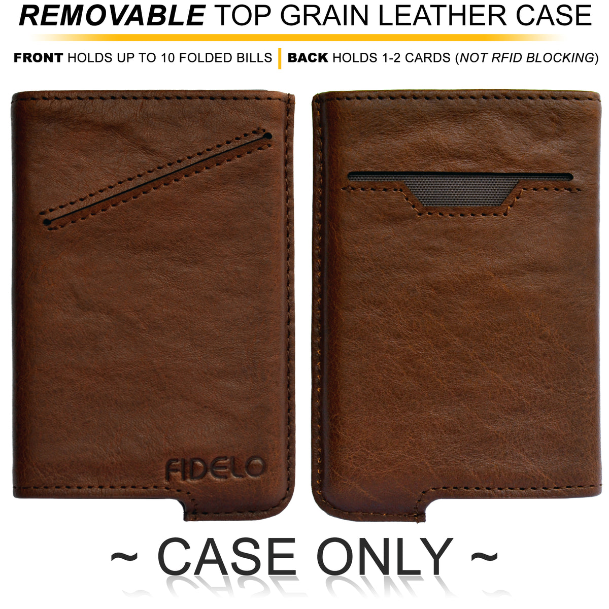 HYBRID CASE ONLY - Vintage Brown Vegetable Tanned Leather
