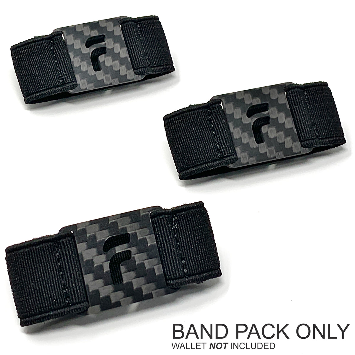 PRESTIGE BAND PACK ONLY (3 Bands - Onyx Black) Wallet NOT Included