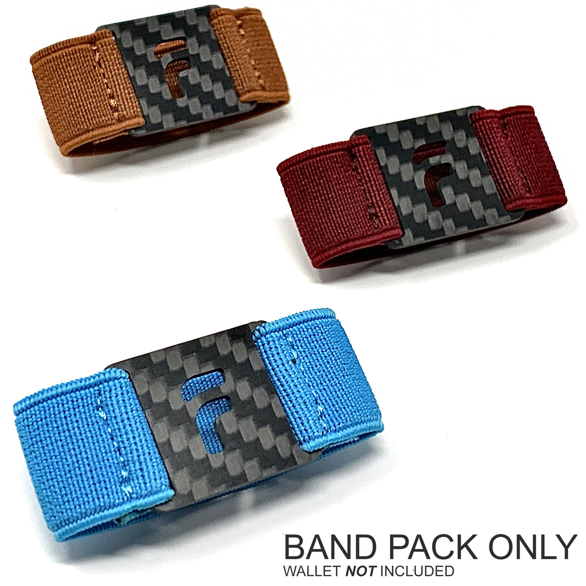 PRESTIGE BAND PACK ONLY (3 Bands - Rust / Firebrick Red / Sky Blue) Wallet NOT Included
