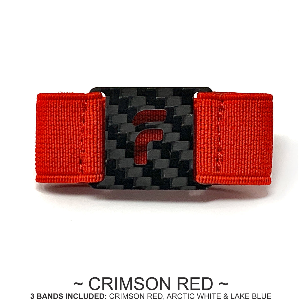 PRESTIGE BAND PACK ONLY (3 Bands - Crimson Red / Arctic White / Lake Blue) Wallet NOT Included