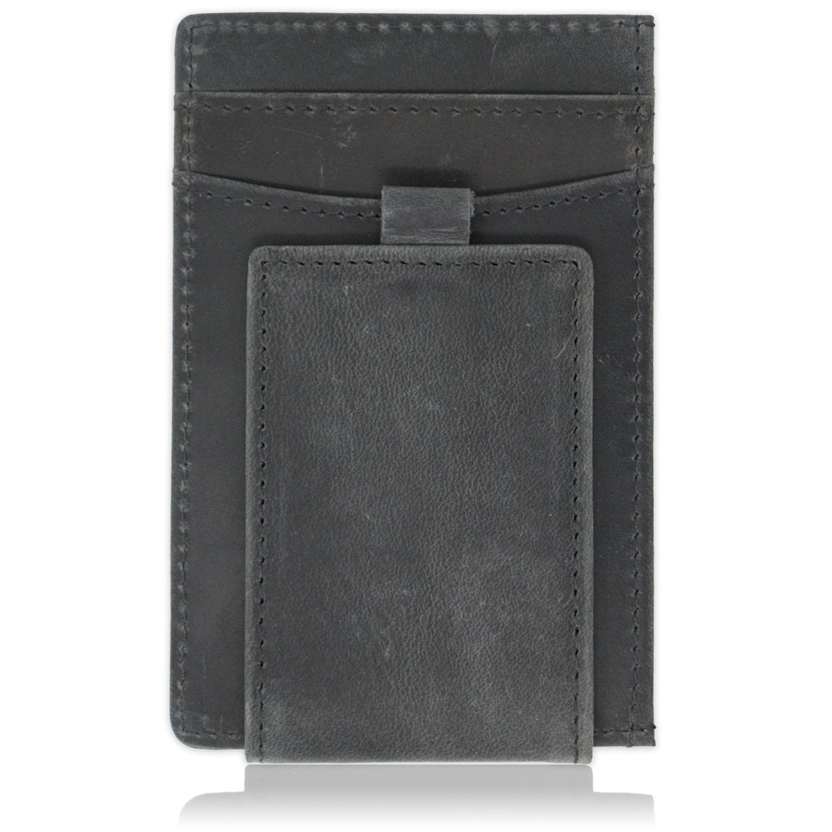 MAVERICK - Distressed Gray Crazy Horse Leather