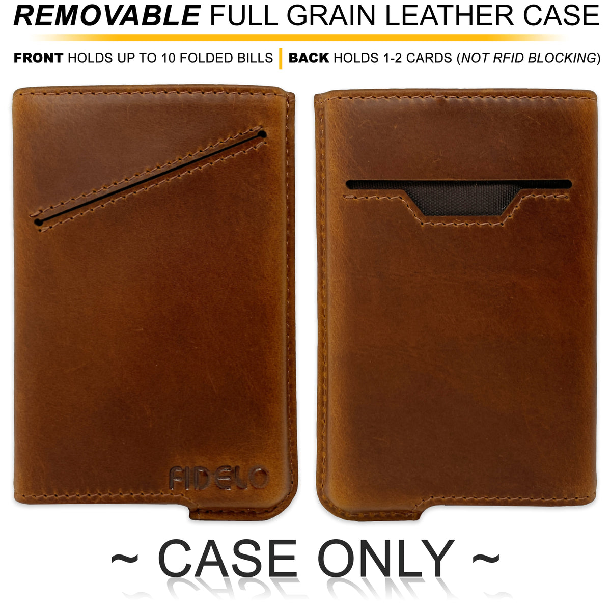 HYBRID CASE ONLY - Chestnut Brown Crazy Horse Leather