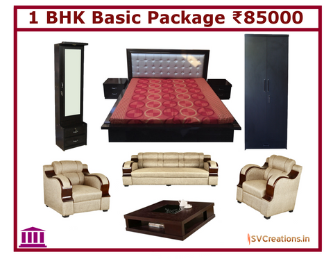 1 BHK Basic Home Furniture Package