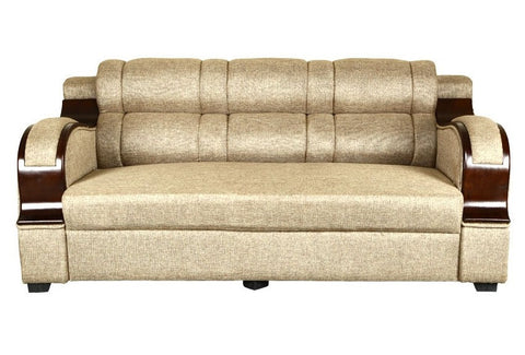 CH Stylish Curvy Handle Fabric Sofa Set