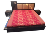 Crystal Mosaic Cushioned Bed with Side Tables