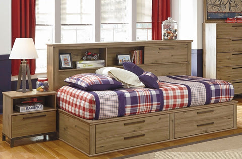 Four Drawers Bed Storage