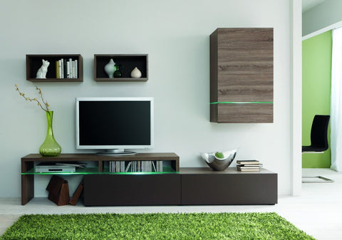 TV Stand and wall cabinet espresso