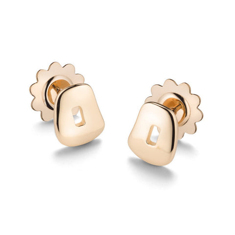 Puzzle stud earrings in 18K rose gold|Orecchini Puzzle in oro rosa 18K