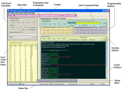 RS232 RS485 RS422 TTL Serial Analyzer Software – CommFront