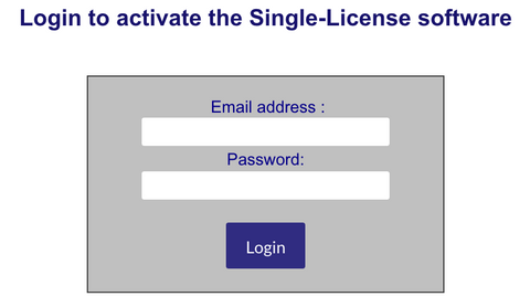 Single-License Activation Login